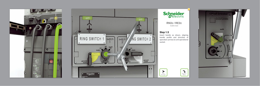 switches for interactive installation manuals